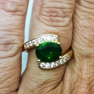 Gorgeous green! Stamped 14K